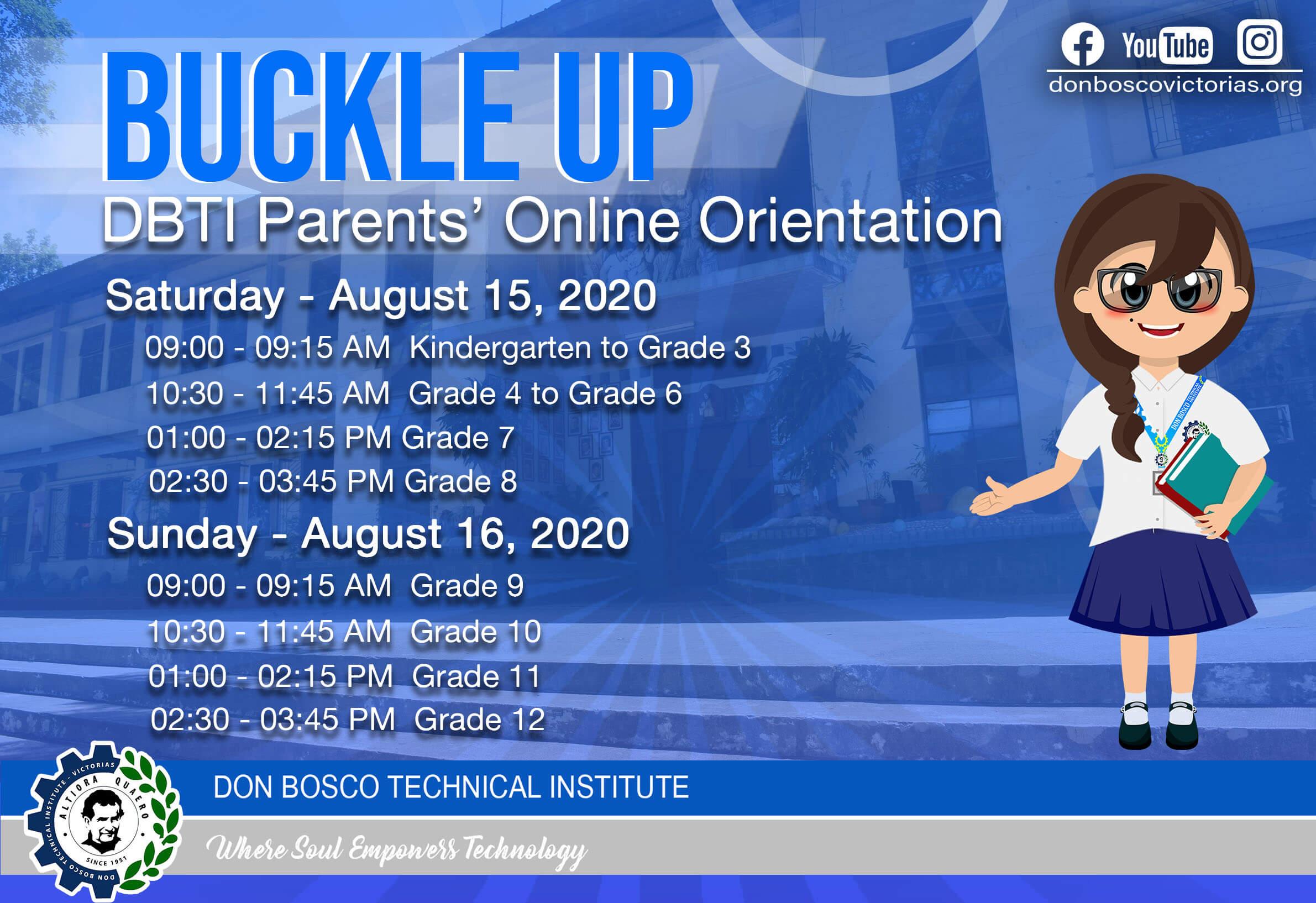 Buckle Up: Parents' Orientation